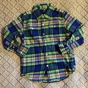 GAP Boy's Size S (6/7) Flannel Button Down